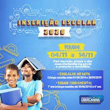 Inscrições escolares devem ser feitas até 14 de novembro - Portal da  Prefeitura de Uberlândia