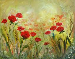 poppies 56x68cm flower nature painting serena sus 3