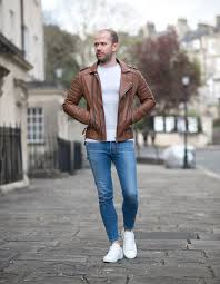street style boda skins antique brown kay michaels biker leather jacket outfit