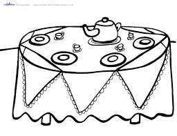 Birthday Party Coloring Pages Printable Tea P In Sheets Babyplanet