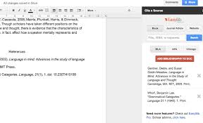 google docs adds ons for students these will help you write a paper gdocs easybib