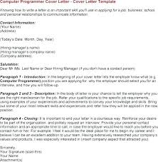 Computer Programmer Cover Letter Cover Letter Example 2 Entry Level