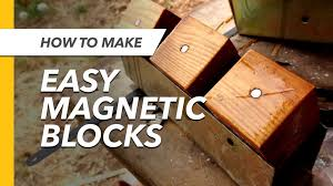 picture of how to make magnetic wooden blocks like tegu toys