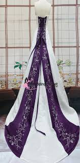 emily purple and white wedding dress weddingoutlet com au