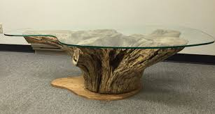 coffee table tree root trunk reclaimed