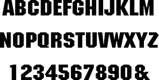 Circus letter font