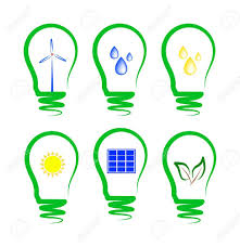 Concept Symbolizing The Different Types Of Alternative Energy