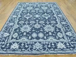 blue persian rug wool roselawnlutheran 6 x 9 turkish knot oushak navy blue