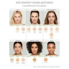 Sheer Cover Mineral Foundation Color Chart Liquid Minerals R A Foundation