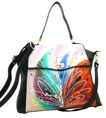 home magnifique bags handpainted purses bags prismatic art leather hand painted handbag