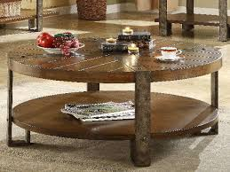 low durable stain round wood and metal coffee table resistant oak formal precise matters perfect piece black