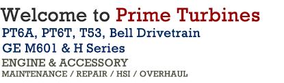 Prime Turbines - PT6, M601-H-series-engines, T53 Engine Experts