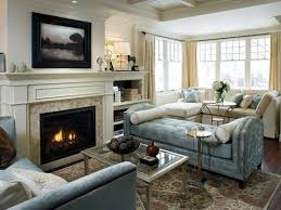 Simple Living Room With Fireplace And Tv How To Arrange Furniture