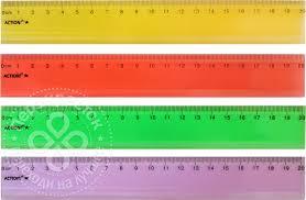 <b>Линейка Action</b>! прозрачная 20см цвет в ассортименте - купить ...