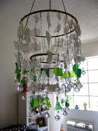 sea glass chandelier. DIY Sea Glass Chandelier By Ecospired.com -