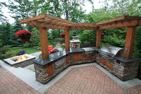 Pergola over an outdoor kitchen by The Pattie Group. Front Yard LandscapingLandscaping  IdeasBackyard ...