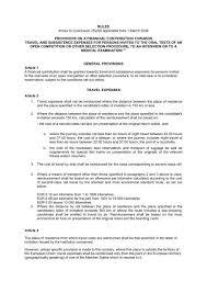 Rules For Reimbursement Of Travel Expenses
