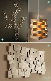 unique diy lighting. Grand Interior Room Design Ideas With Unique Diy Modern Art Style Of Wall Decor Also Pendant Made Cheap Material Brown Paper Lighting
