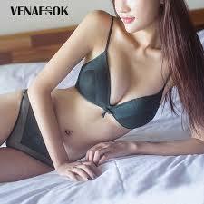 <b>Fashion</b> Girl Brassiere Green <b>Sexy Underwear Women</b> Bra Set Thin ...