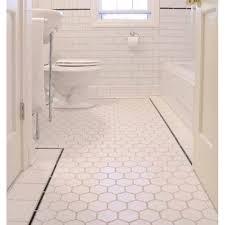 hexagon porcelain tile white matte porcelain tile non slip tile washroom wall tiles shower tile