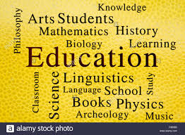 Education Classroom Subjects And Related Words In Wordcloud On Stock