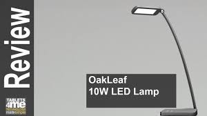 oak leaf 10w modern design led touch table lamp