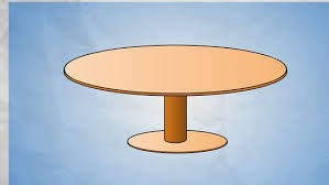 measuring a round table