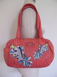 Don Ed Hardy Designs Bag Don Ed Hardy Designs Koi Purse Bag Quilted And 50 Similar Items