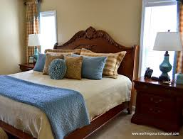 Bedroom Design Blue And Brown
