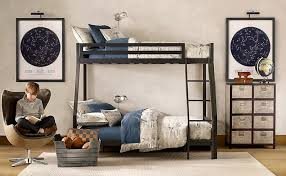 kids bedroom double bunk bed boys room with educational influence