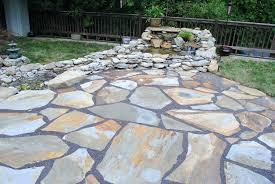 flagstone patio cost average per
