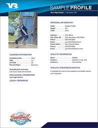 Softball Player Profile Template Softball Profile Sample Sample Profile Softball Profiles