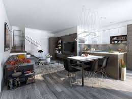 23 Open Concept Apartment Interiors For Inspiration | Kitchen ...