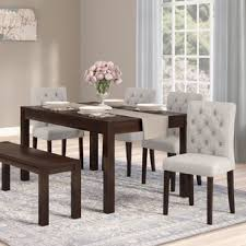 Dining room table bench Vintage Gardners Piece Dining Set Wayfair Bennox Piece Dining Set Wayfair