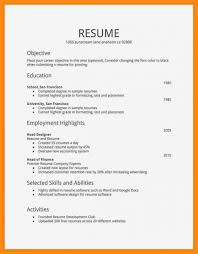 Simple High School Resume Examples Basic Resume Examples Download Skills Samples For Highschool