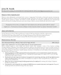 Resume Sample For Executive Assistant Best of Executive Level R Stunning Executive Level Resume Templates Sample