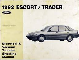 ford escort and mercury tracer wiring diagram original 1992 ford escort and mercury tracer electrical troubleshooting manual