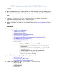 Psa Example Public Service Announcement Psa Video Project
