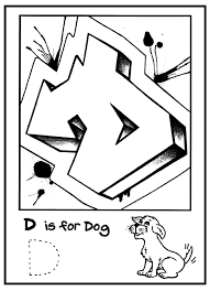 G Is For Graffiti Alphabet Coloring Book Free Coloring Page Graffiti Alphabet Coloring Pages L