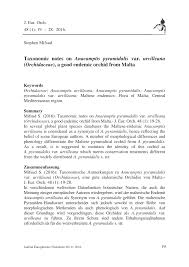 (PDF) Taxonomic notes on Anacamptis pyramidalis var. urvilleana ...