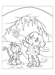 Kleurplaten Paradijs Kleurplaat Dora En Boots