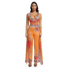 Traditional Jumpsuit Designs Us 19 78 10 Off African Jumpsuit For Women Clothes Femme 2019 Africa Ladies Clothes Traditional Women Print 2019 New Print Clothing Vintage In