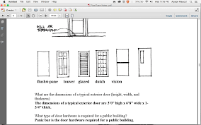 Final Interior Architecture And Design Building Systems With - Exterior door thickness