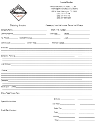 Catering Invoice Template 4 | Catering Invoice Templates | Pinterest ...