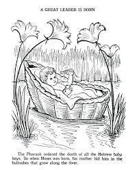 Story Of Baby Moses For Preschool Ba Moses Coloring Pages Ba Moses