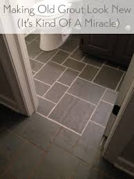 How To Clean Bathroom Floor Inspiration Making Old Discolored Grout Look Like New Young House Love