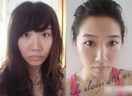 chinese s with makeup vs without