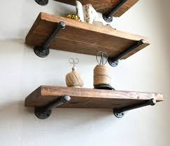 provincial barnwood floating shelf shelves rustic farmhouse industrial wood pipe shelf kitchen bathroom sewing room laundry nursery decor