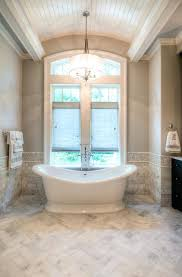 lowes freestanding tub. Lowes Herringbone Tile Ceiling Tiles Bathroom Traditional With Barrel Vault Curved Freestanding Tub Gray Walls L