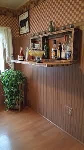 wall mount bar man cave liquor cabinet